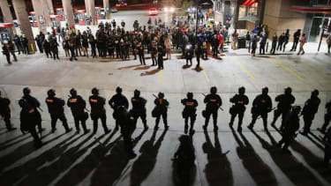St. Louis police arrest Ferguson October protesters at gas station sit-in