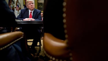 Trump holds a listening sessions with county sheriffs.