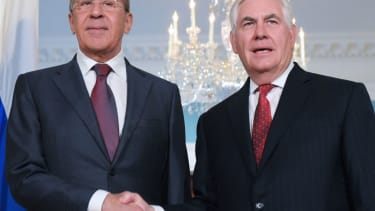 US Secretary of State Rex Tillerson and Russian Foreign Minister Sergei Lavrov.