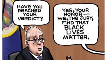 Editorial Cartoon U.S. chauvin verdict george floyd black lives matter