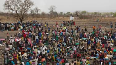 Ugandan refugee camp.