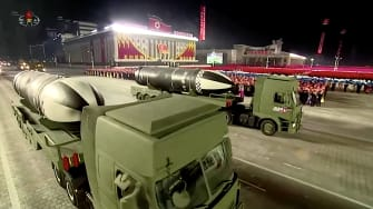 North Korea shows off new missiles