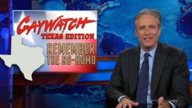 Jon Stewart vulgarly mocks the Texas GOP for pushing 'pray the gay away' therapy
