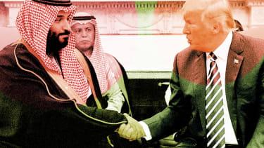 President Trump and Mohammad Bin Salman.
