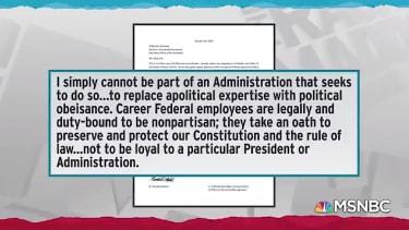 Federal resignation letter