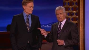 Watch Conan O'Brien and Alex Trebek try to out-crazy each other