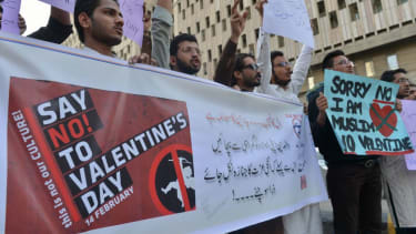 Pakistan outlaws Valentines Day.