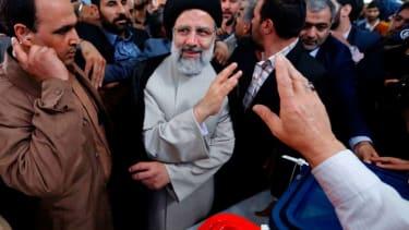 Iranian presidential candidate Ebrahim Raisi votes