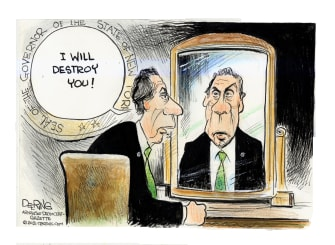 Political Cartoon U.S. cuomo sexual harassment