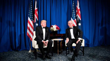 Donald Trump and Malcolm Turnbull.