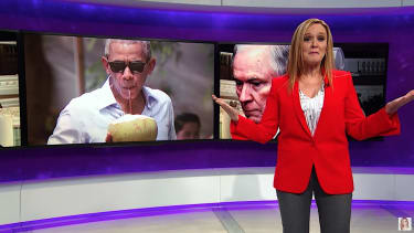 Samantha Bee rolls her eyes at President Trump's wiretapping claims