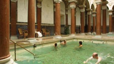 A Roman spa.