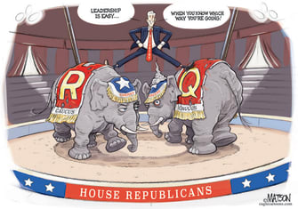 Political Cartoon U.S. mccarthy gop qanon greene