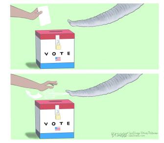 Political Cartoon U.S. gop voting