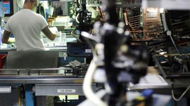A factory worker in Boston.