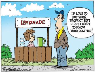 Editorial Cartoon U.S. lemonade stand politics
