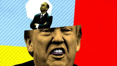 President Trump and Mick Mulvaney.