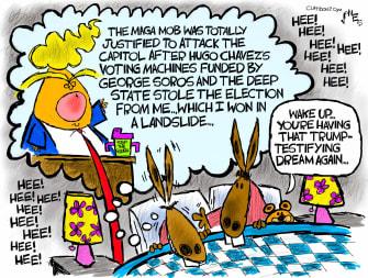 Political Cartoon U.S. trump impeachment democrats