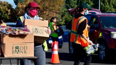 Food bank delivers meals to those who need them.