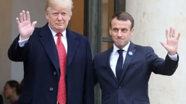 President Trump and French President Emmanuel Macron