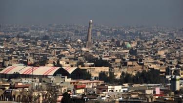 Minaret of Great Mosque of al-Nuri.