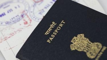 An Indian passport.