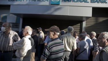 Greek banks won't open their doors Monday.