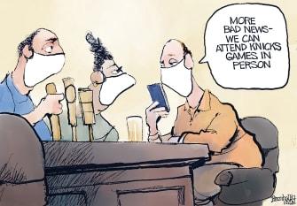 Editorial Cartoon U.S. covid new york knicks