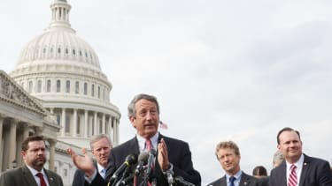 Rep. Mark Sanford with fellow members of the House Freedom Caucus