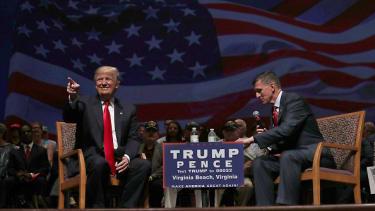 Trump campaigns in Virginia Beach.