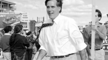 Mitt Romney during his 1994 Senate run: The GOP candidate worked at Bain Capital from 1984 until 1999 during which the company backed what is today the fifth-largest steel producer.