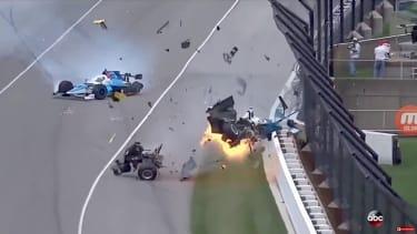 A crash at the 2017 Indy 500