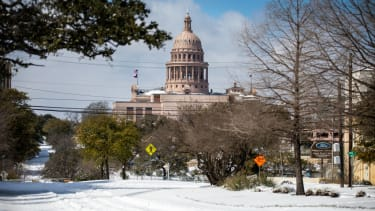 Snow in Austin, Texas.