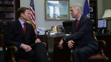 Sen. Richard Blumenthal and Judge Neil Gorsuch