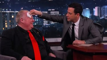 Toronto's Rob Ford continues to disprove stereotypes about Canada on Jimmy Kimmel Live