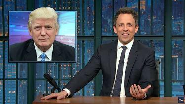 Seth Meyers recaps Donald Trump solo press conference
