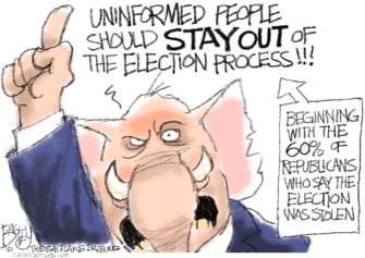 Political Cartoon U.S. gop election claims