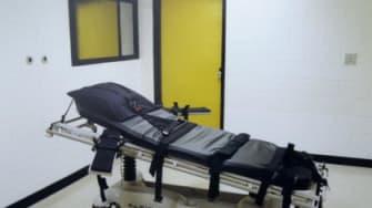 A Georgia prison death chamber.