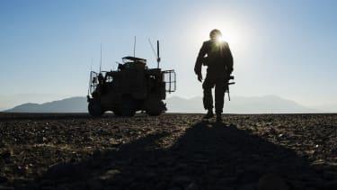A U.S. soldier in Afghanistan.