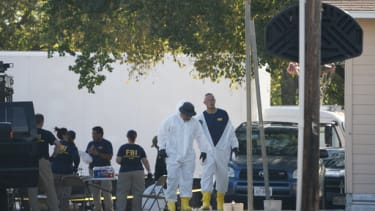 Police investigate a shooting at the the First Baptist Church of Sutherland Springs, Texas