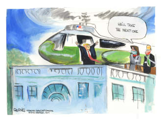 Political Cartoon U.S. Trump White House Capitol riot