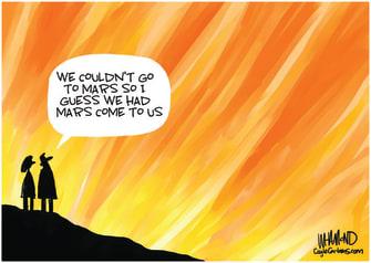 Editorial Cartoon U.S. wildfires mars