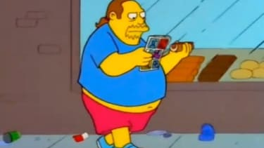"""The """"Comic Book Guy"""" on """"The Simpsons"""""""