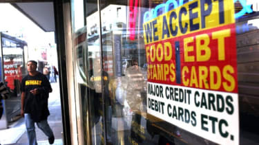 About 15 percent of the country receives food-stamp benefits.