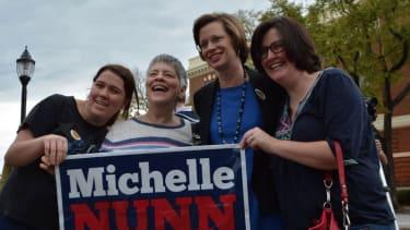 Poll: Democrat surging ahead in Georgia Senate race — but still below crucial 50 percent mark