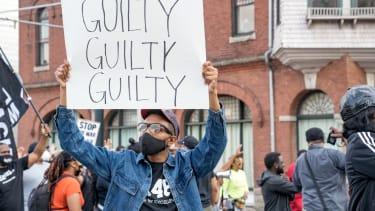 A march after Derek Chauvin's verdict