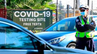 Coronavirus testing in California.