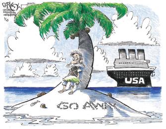 Editorial Cartoon U.S. problems covid capitol riot trump
