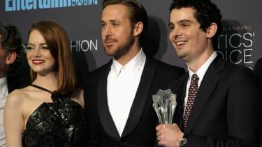 Emma Stone, Ryan Gosling, and Damien Chazelle.