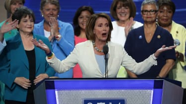House Minority Leader Nancy Pelosi said that the white, non-college educated men of the Republican party are refusing to vote for Hillary Clinton for a few specific reasons.